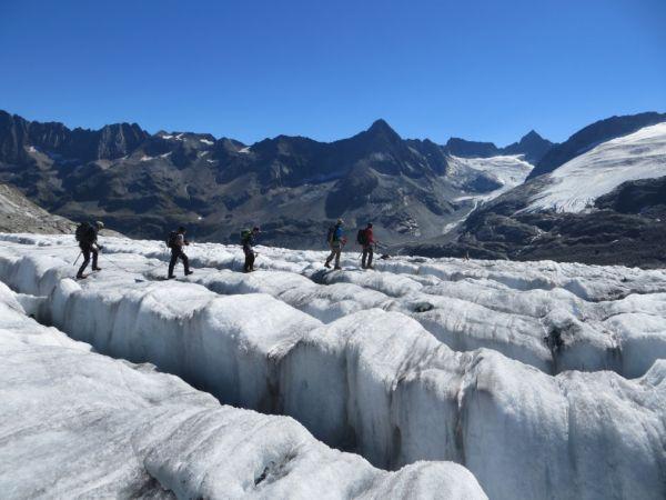 Gletschertrekking auf dem Rohnegletscher