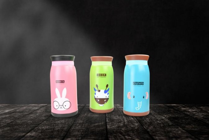 Kinder Thermoflasche mit Hase 350 ml