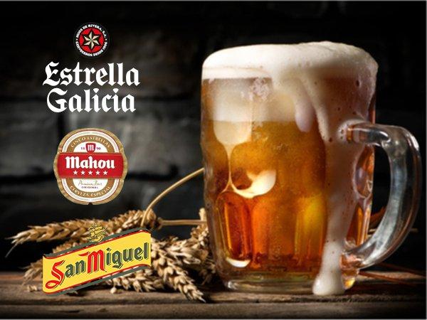 BIER - Estrella Galicia - San Miguel - Mahou