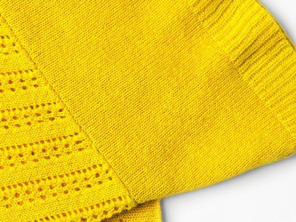Cashmere scarf - Ibiza Lemon