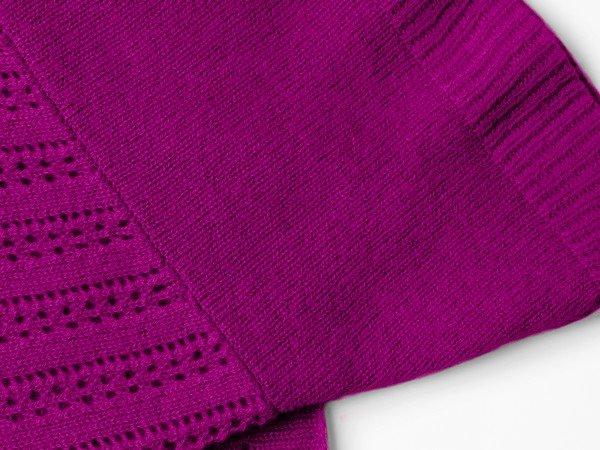 Cashmere scarf - Ibiza plum