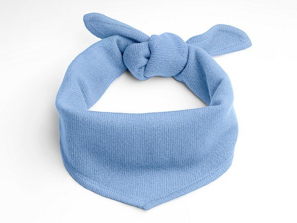 Cashmere scarf - New York light blue
