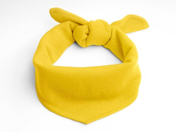 Cashmere scarf - New York yellow