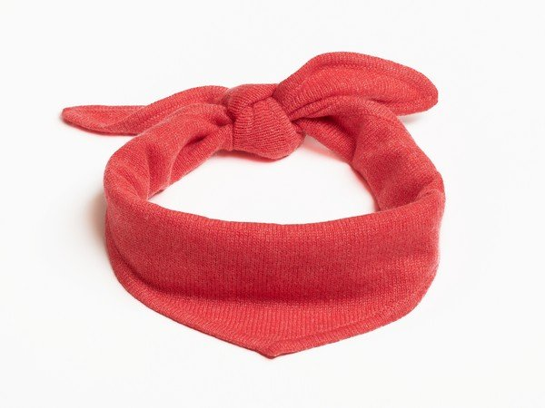 Cashmere scarf - New York coral