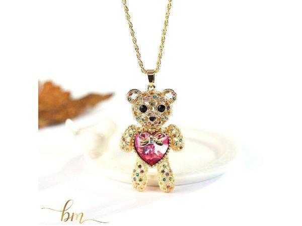Gold Teddybär Anhänger