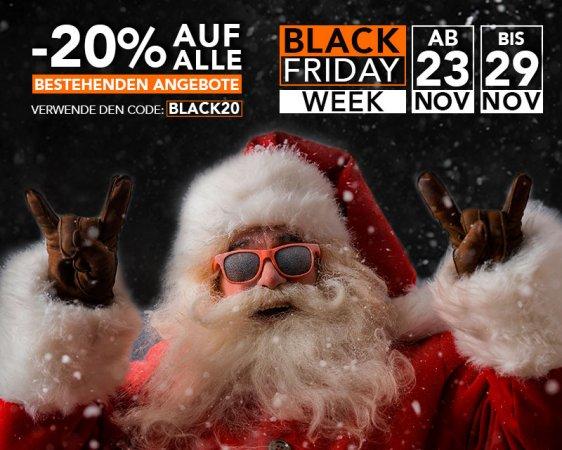 Black Friday Week: 20% Rabattcode
