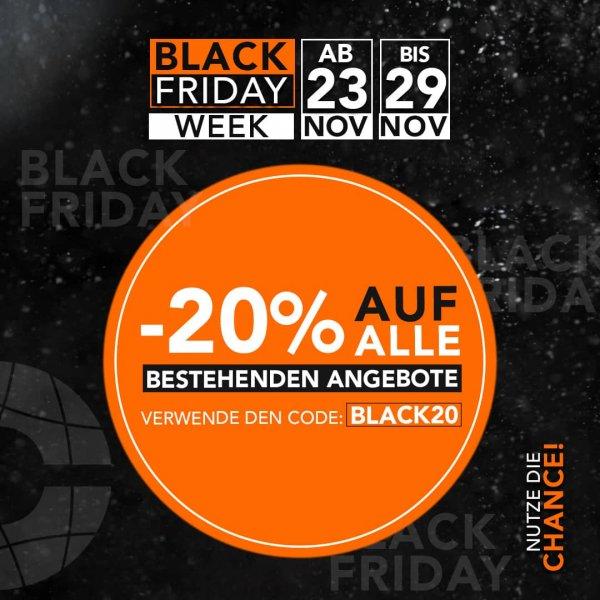 Black Friday Aktion mit bis zu 80% Rabatt