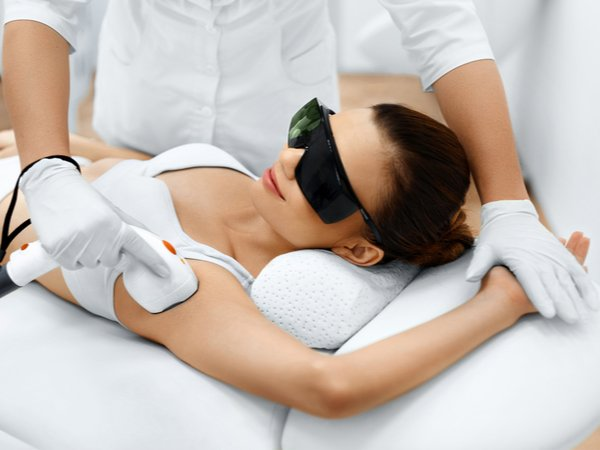 Permanent SHR hair removal