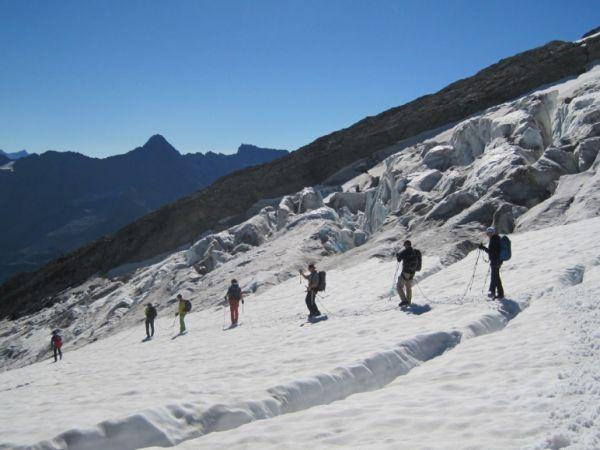 Trekking por glaciar en el Rohnegletscher