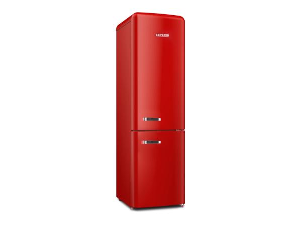 Retro Kühlschrank mit Gefrierfach RKG8927 rot, E, 250Liter