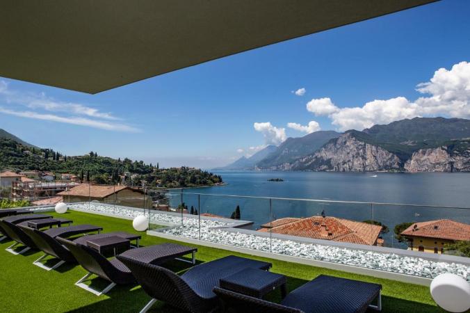 4 Tage Wellnessurlaub für zwei am Gardasee im 4*S Hotel Casa Barca in Malcesine
