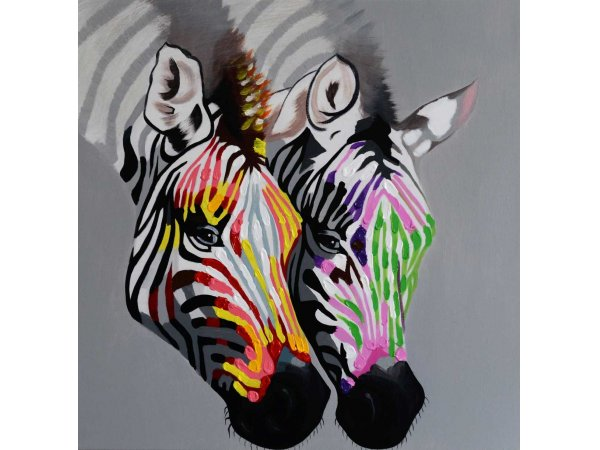 Hand-painted oil painting Zebra 1 (without frame)