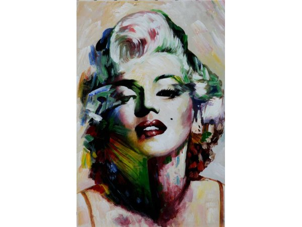Hand-painted Marilyn 2 oil paintings (without frame)