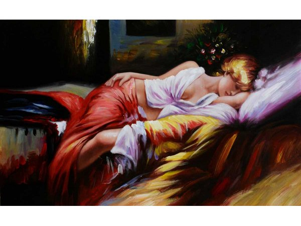 Handgemalene Ölgemälde Sleeping Beauty (ohne Rahmen)
