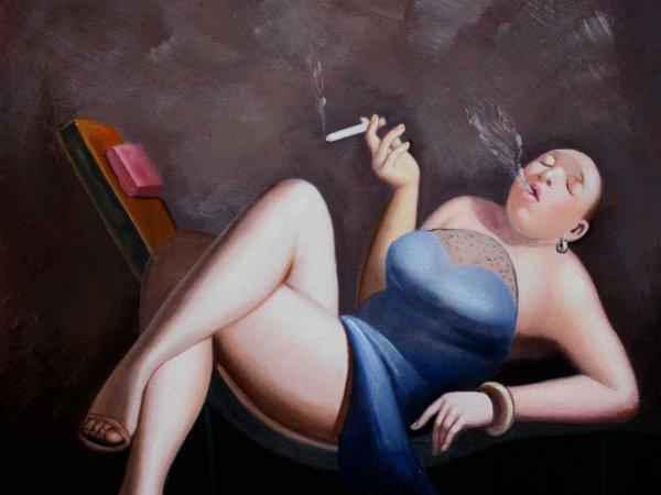 Handgemalene Ölgemälde Leisure Lady 4 (ohne Rahmen)