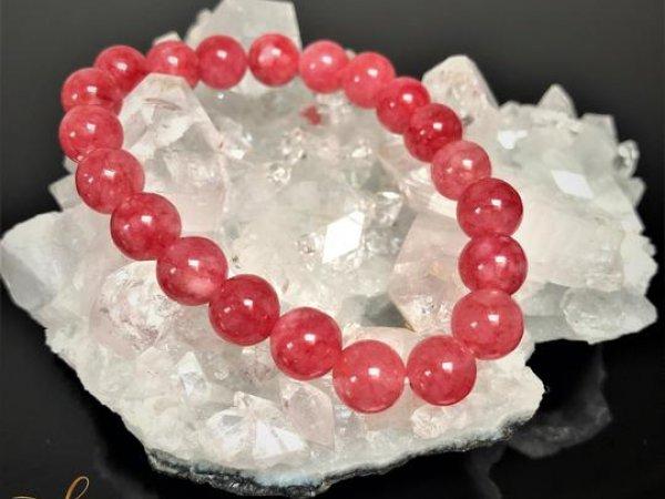 Rotes Chalcedon-Armband