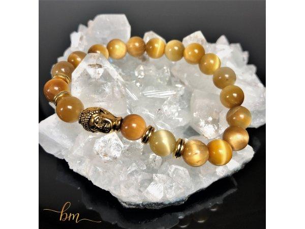 Tigerauge Armband Sonne Buddha