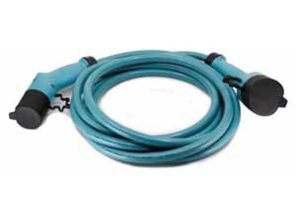 E-Ladekabel Typ 2 - Typ 2 400V/32Ah/22kW/6.0mm²/3m gerade