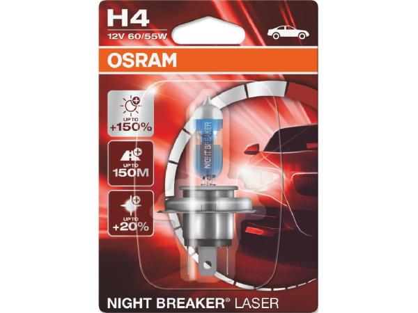 Night Breaker Laser H4 12V 60/55W P43t