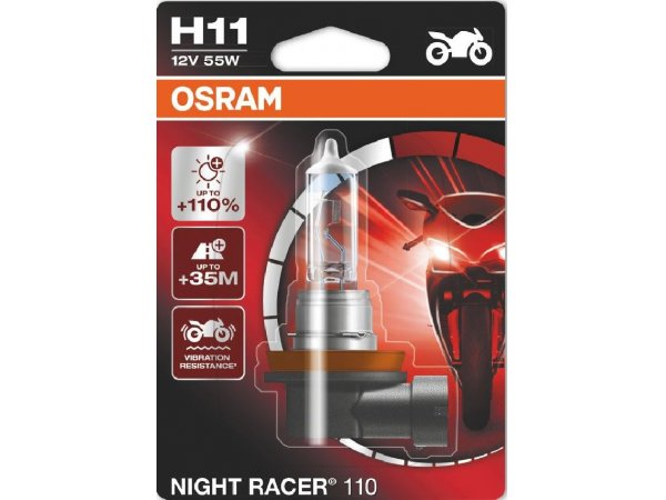 Glühlampe NIGHT RACER +110% H11 12V 55W PGJ19-2