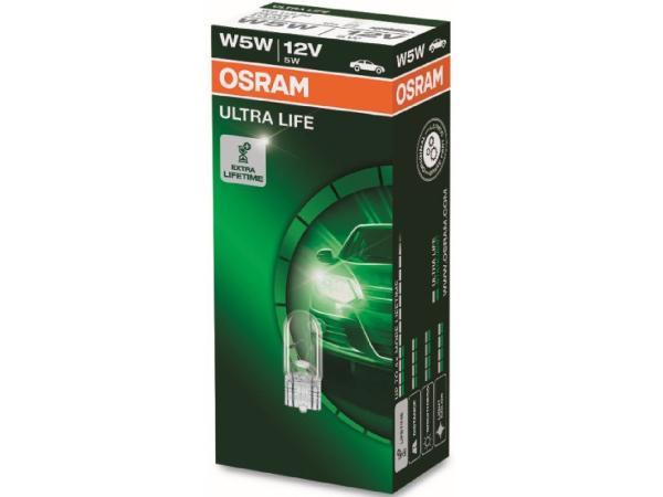 Glassockellampe ULTRA LIFE 12V 5W W2,1x9,5