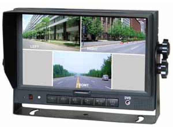 7.0 TFT LCD Touch-Screen QUAD Farb-Monitor 10-32V für max. 4 Kameras