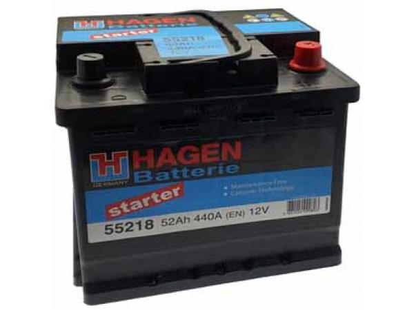 Batterie 12V/52Ah/440A LxBxH 207x175x190mm/B13/S:0
