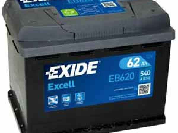 Excell 12V/62Ah/540A LxBxH 242x175x190mm/B13/S:0