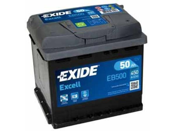 Excell 12V/50Ah/450A LxBxH 207x175x190mm/B13/S:0