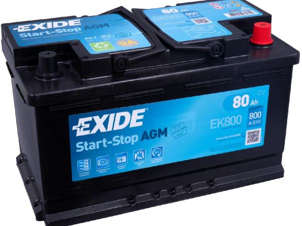 Start-Stop AGM 12V/80Ah/800A LxBxH 315x175x190mm/B13/S:0