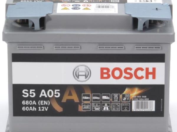AGM-Batterie Bosch 12V/60Ah/680A LxBxH 242x175x190mm/S:0