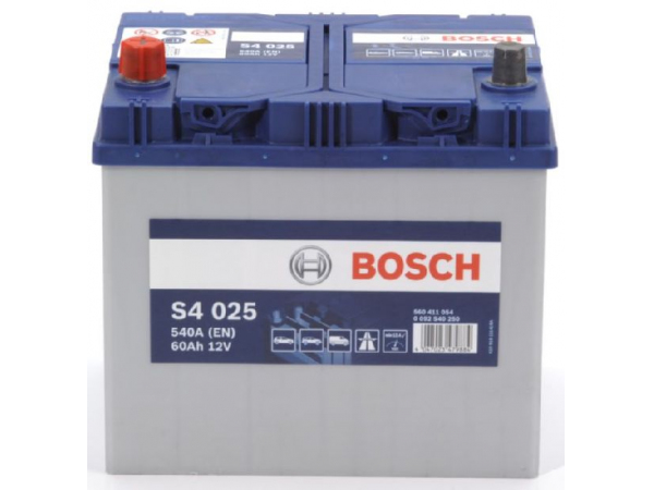 Starterbatterie Bosch 12V/60Ah/540A LxBxH 232x173x225mm/S:1