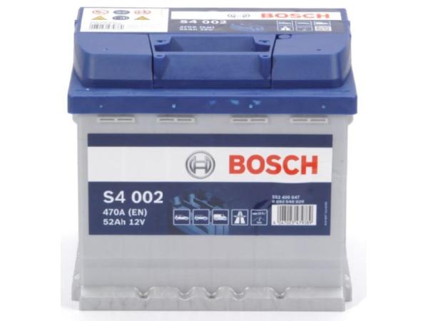 Starterbatterie Bosch 12V/52Ah/470A LxBxH 207x175x190mm/S:0