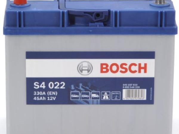 Starterbatterie Bosch 12V/45Ah/330A LxBxH 238x129x227mm/S:1
