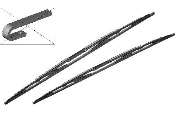 Wischblatt Paar Standard 650/530mm