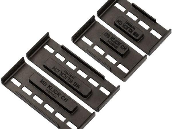 MB-Klick2 Nummerrahmen Set Rahmenlos, lang, schwarz