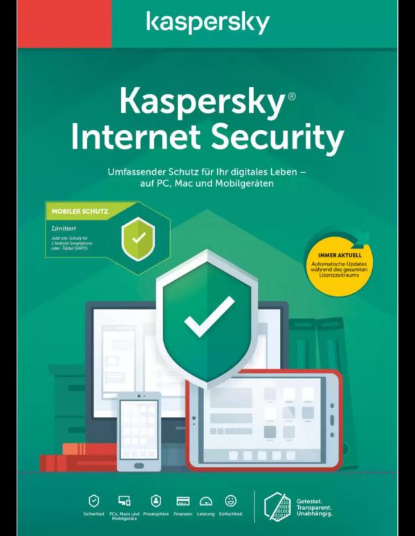 Kaspersky Internet Security 1PC - 1 year voucher cards