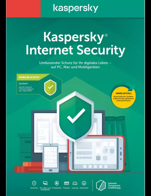 Kaspersky Internet Security 5PC - 1 year voucher cards