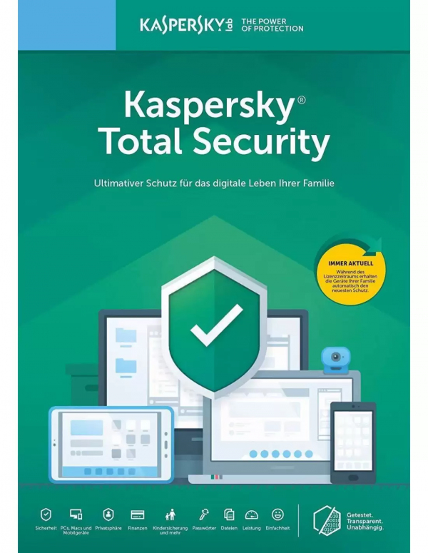 Kaspersky Total Security 5PC - 1 year - gift cards
