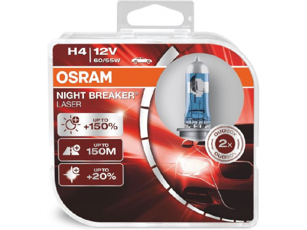 OSRAM Night Breaker Laser Duobox H4 12V 60/55W P43t