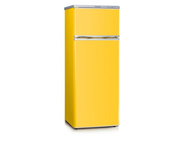 Kühlschrank mit Gefrierfach Freist. KS9797 A++/E, 212L, gelb