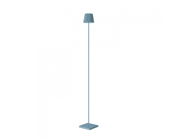 Outdoor floor lamp TROLL blue, 120cm