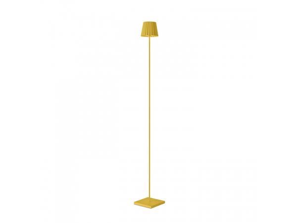 Outdoor floor lamp TROLL yellow, 120cm
