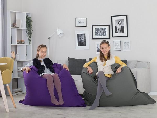 BELIANI Sitzkissen violett 140x180 cm CH
