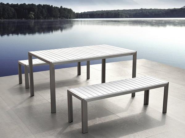 Aluminium Kunstholz Gartenmöbel NARDO weiss CH