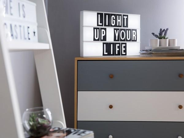 Lichtbox mit 60 Schriftzeichen, ZEYA, weiss, USB CH