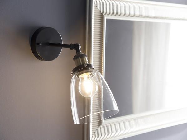 Wandlampe LOVAT, transparent CH