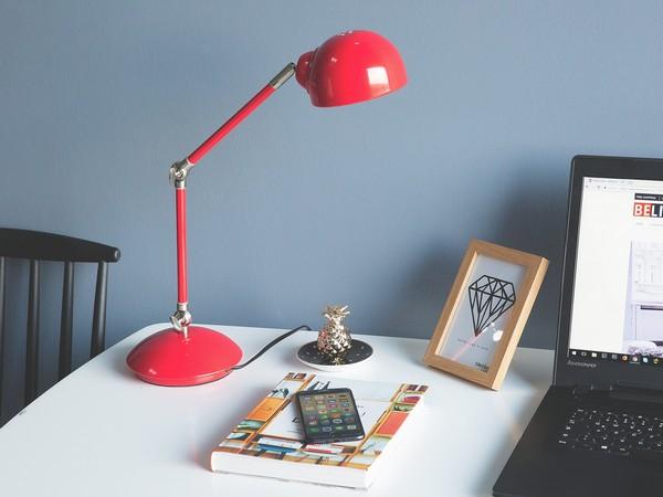 Tischlampe HELMAND, red CH