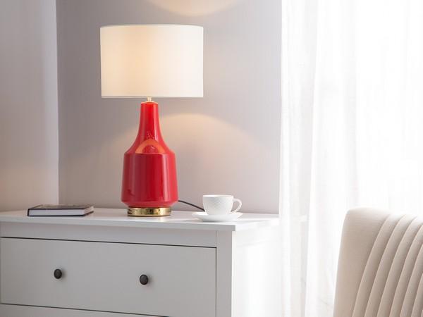 Tischlampe TRIVERSA, rot CH