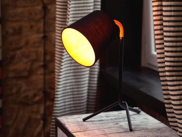 Tischlampe MOOKI, Schwarz CH